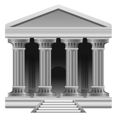 Bank icon illustration Illustration
