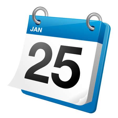 Calendar icon illustration Illustration