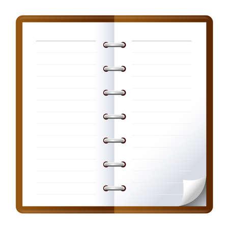 Schedule book icon illustration