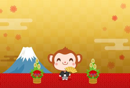 New Year's Card Monkey Japan