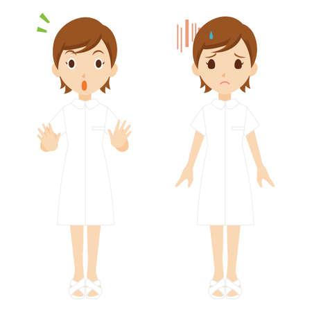 Nurse Woman Whole Body Pose Set