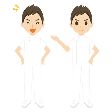 Nurse Male Whole Body Pose Set