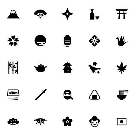 Japanese-style icon set