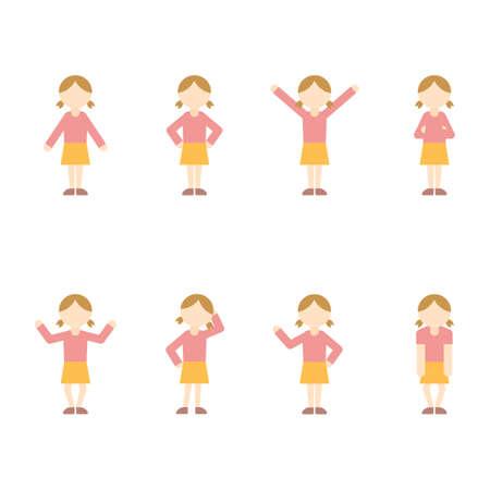 Flat Icon Figure Girl
