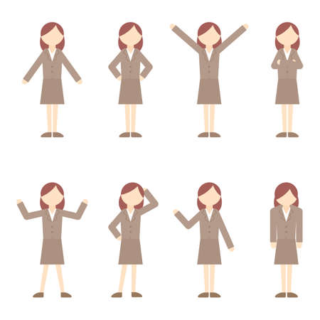 Flat Icon Person Businessman Woman Illustration