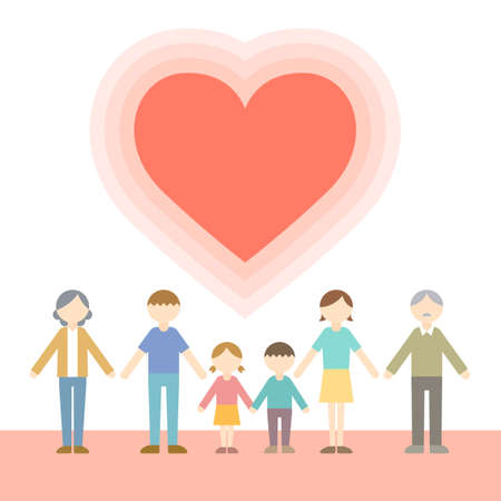 Flat Icon Person Family Heart