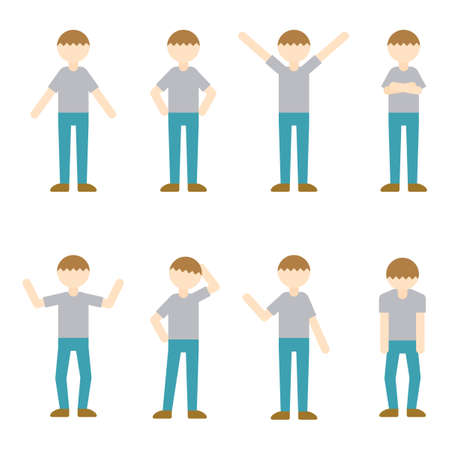 Flat Icon Person Daddy Male Illustration