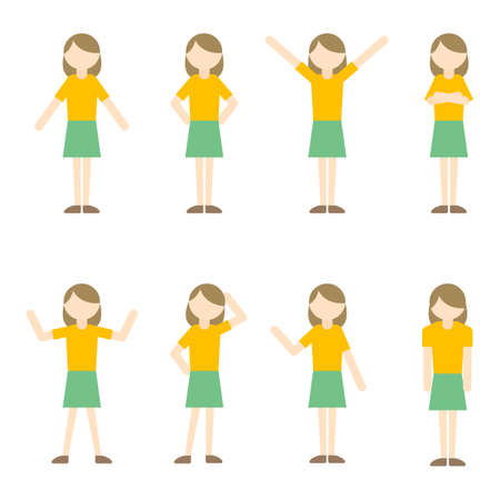 Flat Icon Person Mom Woman Illustration