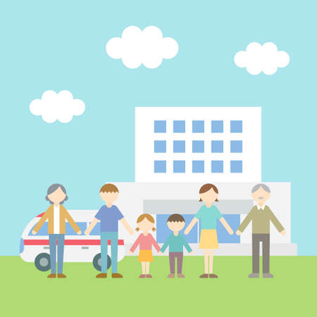 Flat Icon Person Family Hospital