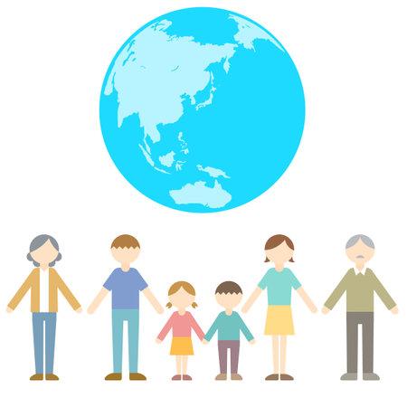 Flat Icon Person Family Eco Illustration