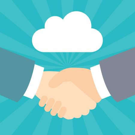 Handshake Cloud Illustration