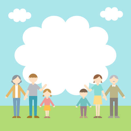 Flat Icon Person Family Callout Illustration
