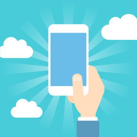 Smart phone operation Illustration