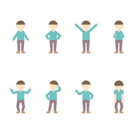Flat Icon Figure Boy