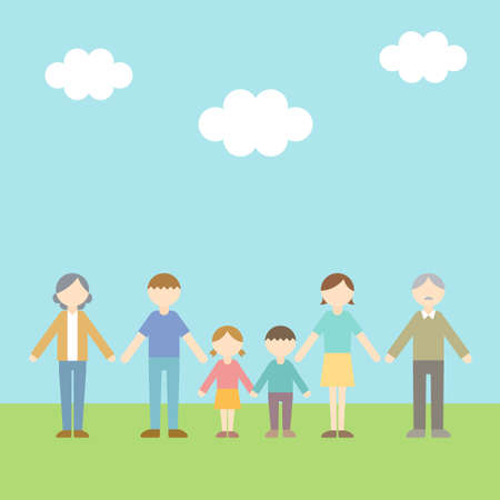 Flat Icon Person Family Sky Illustration