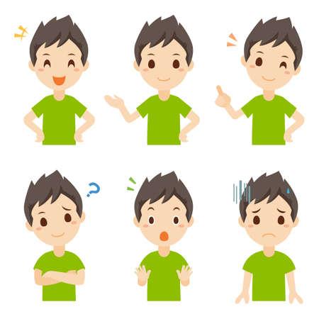 Boy Child Facial Expression Pose