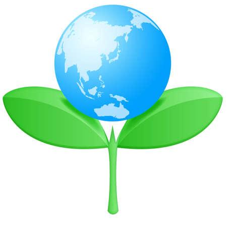 Bud Earth Illustration
