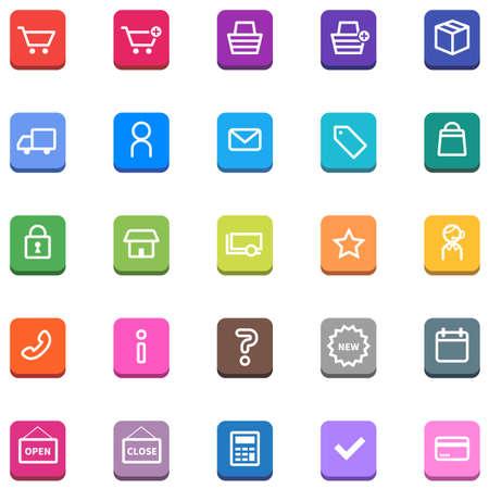 E-commerce shopping icon set