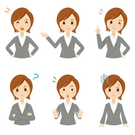 Women Business Pose Set