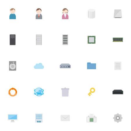 Business hardware icon set