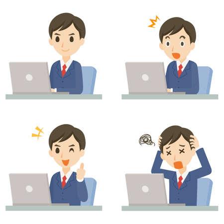 Men Business PC Pose Set