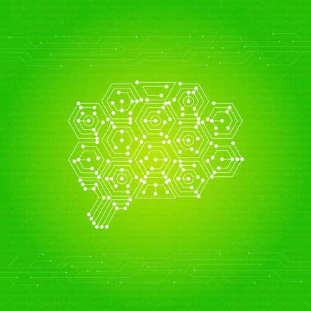 Brain Network Image AI Иллюстрация