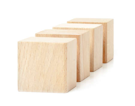 Cubes isolated on white background