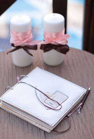 wish book at wedding party end candle
