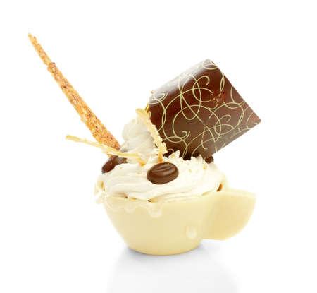 creamy dessert photo