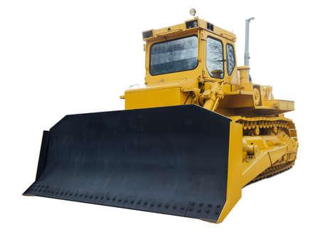 crawler: Heavy crawler bulldozer isolated on a white background