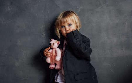 Portrait of emotional little girl