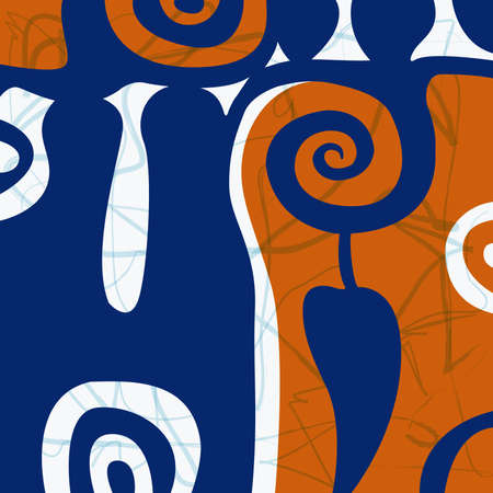 stilish: abstract design in blue and brown