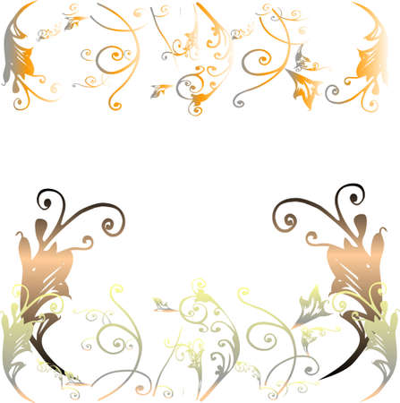 christmas motive: floral design on white background