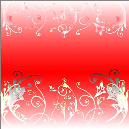 stilish: flowers on red Stock Photo