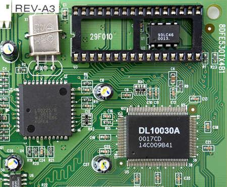 raider: close up of integrated circuits board