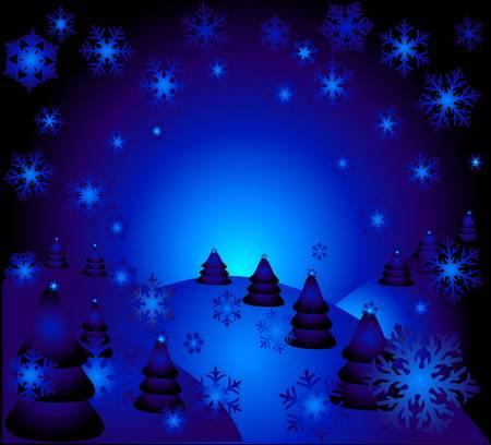 the magic christhmas night illustration illustration