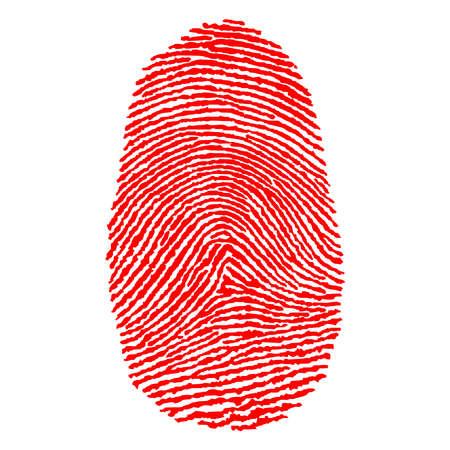 fingerprint illustration Stock Photo
