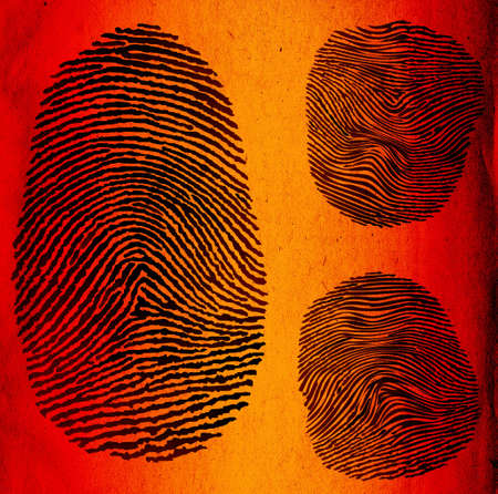 fingerprints, grunge illustration Stock Illustration - 596046
