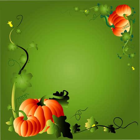 thanks giving pumpkins, vector illustration Stock Illustration - 597937