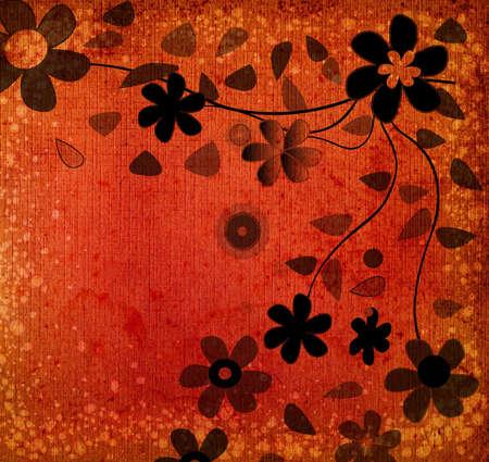 Manojo de flores de color café con textura de fondo  Foto de archivo - 615859