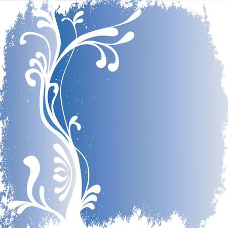 grunge decorative winter background with floral motive Vector