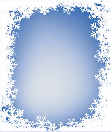 icicle: grunge decorative frame with lots of snowflakes, ideal for christmas cards