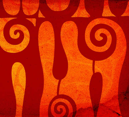 abstract decorative shapes background illustration Stock Illustration - 674236
