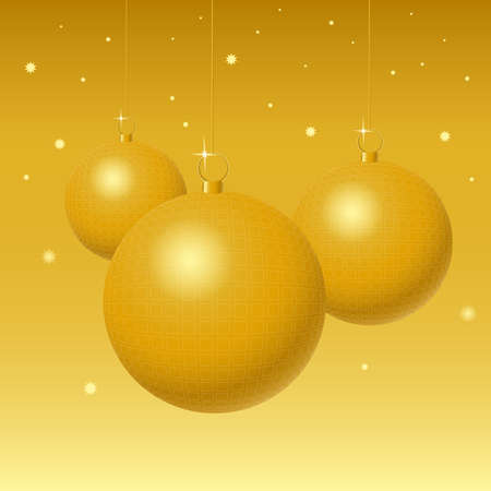 stary: golden christmas balls on stary background Stock Photo