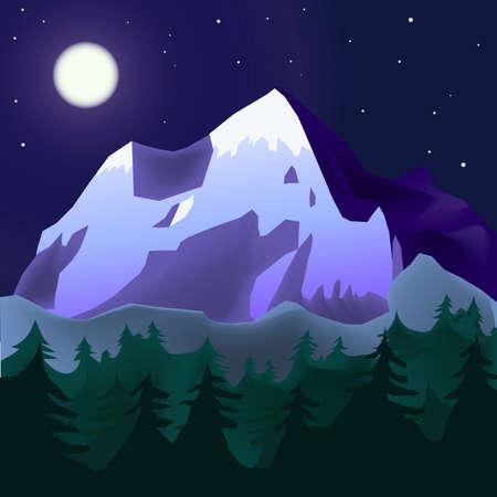 mountin: mountin landscape in moon light
