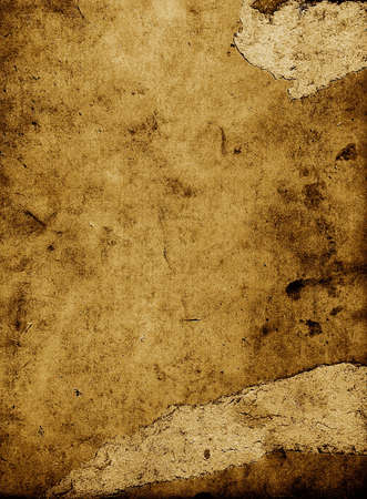 discolored: old scraped and spotted paper Stock Photo