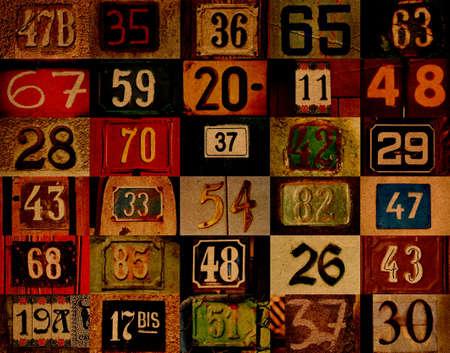 Ordinal: Hintergrund mit Zahlen  Lizenzfreie Bilder