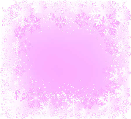 ideal:  decorative frame with lots of snowflakes, ideal for christmas cards Stock Photo