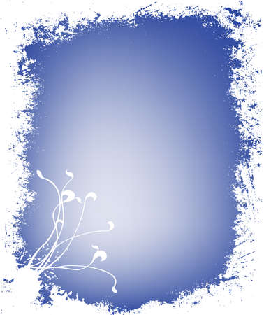 grunge decorative winter background with floral motive Stock Photo - 732077