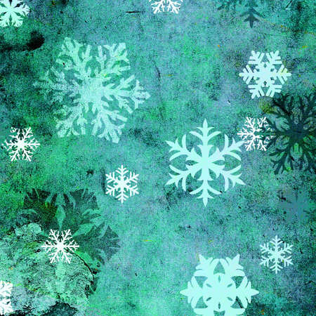 discolored: snowflakes on grungy background Stock Photo